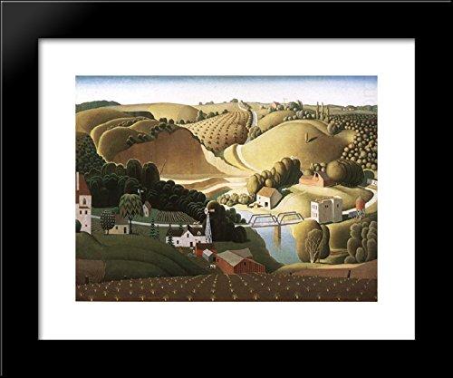 Stone city, Iowa 20x24 Framed Art Print by Grant Wood - Grant Wood Wall