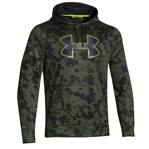 Under Armour Fleece Storm Printed Big Logo Hoody - Men's Rifle Green / Black / Steel Medium