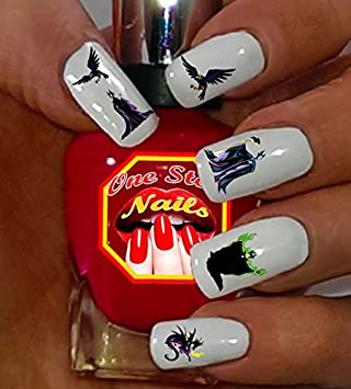 Disney Maleficent Nail Decals Tattoo Nail Decal Set Of 58 Dm 001 58 By One Stop Nails