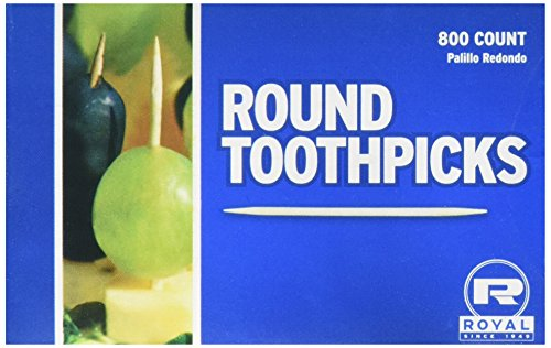 Royal Round Toothpicks, Pack of 800