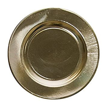 Sophistiplate Brilliant Metallic Gold Righe Paper Charger Plates (Pack of 8) Fancy Disposable Dinnerware  sc 1 st  Amazon.com & Amazon.com: Sophistiplate Brilliant Metallic Gold Righe Paper ...