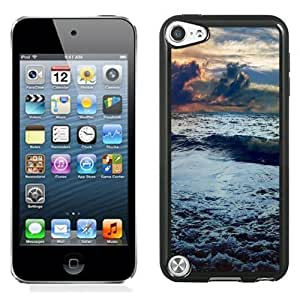 NEW Unique Custom Designed iPod Touch 5 Phone Case With Stormy Sea Waves_Black Phone Case