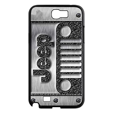 DiyCaseStore Cool Classic jeep wrangler logo with steel Samsung Galaxy Note 2 N7100 Hard Case Cover Protector Gift (One Direction Ipod 5 Custom Case)