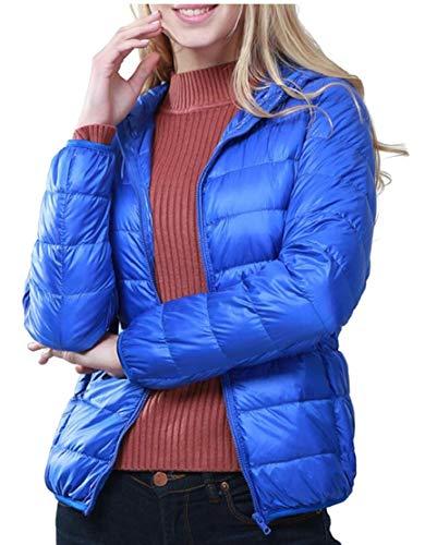 Outwears EKU Women's Down Winter Hooded Lightweight Jackets Packable Down 9 Coat PfqHBTwnPF