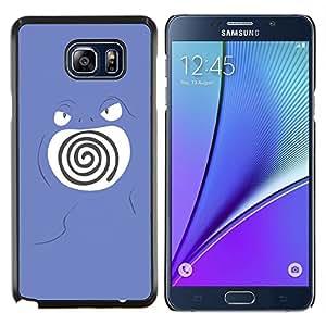 YiPhone /// Prima de resorte delgada de la cubierta del caso de Shell Armor - Remolino púrpura de Poke Monster - Samsung Galaxy Note 5 5th N9200