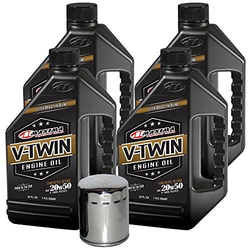 MaximaHiflofiltro VTEOCK20 Synthetic Blend Engine Oil Change Kit for Harley Davidson Sportster V-Twin