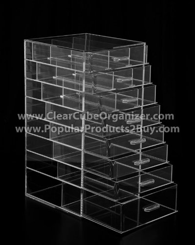 Acrylic Clear Cube Makeup Organizer (8 drawers) by Acrylic Organizer Store Inc