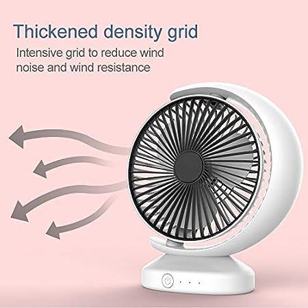 ,Size: 23206.3cm Happyshopping Sunshine Modern USB Fan Desk Lamp Portable Mini Recirculating Wind Mute USB Desktop Fan with 3 Speed Control Color : Black Black