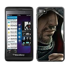 EJOY---Cubierta de la caja de protección la piel dura para el / Blackberry Z10 / --Barbudo Assasin
