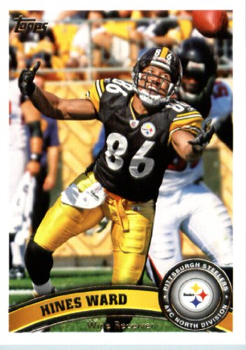 2011 Topps Football Card # 131 Hines Ward - Pittsburgh Steelers - NFL Trading Card in a Protective Case! (Ward Merchandise)