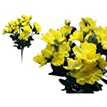 BalsaCircle-120-pcs-Yellow-Silk-Gardenia-Flowers-4-Bushes-Artificial-Wedding-Party-Centerpieces-Arrangements-Bouquets-Supplies