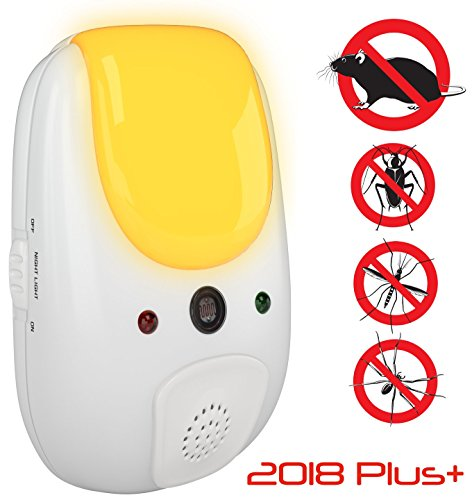 SANIA 2018 ultrasonic pest Repeller Plus+ Effective Defense Repellant Keeps roaches, Spiders, Mosquitos, mice, Bed Bugs Away - Electronic Deterrent Inside Your Home (Reppeller1)