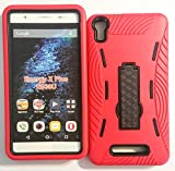 "For BLU Energy X Plus E030U / E030L 5.5"" Premium Rugged Heavy Duty Case Kickstand Perfect FIT Many Colors Available (Red on Black)"