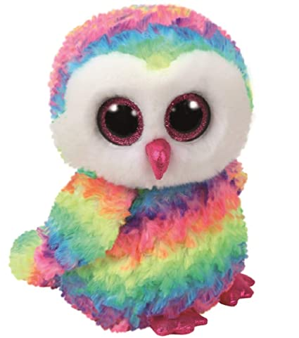 d435e6b719d Image Unavailable. Image not available for. Color  Ty Beanie Boos OWEN The  Multicolor Owl Medium