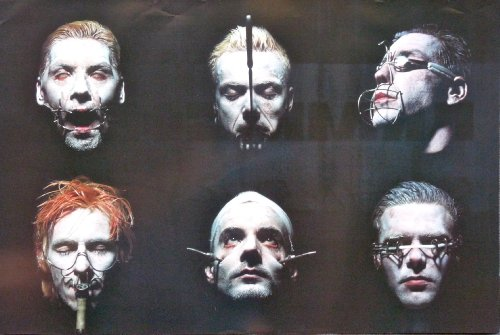 Rammstein - Sehnsucht - Rare 2-sided Advertising Poster 24x36