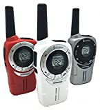 IXP2 Backlit LCD WLAN Radio, Red, White, Silver; No for FRS/Yes for GMRS License Required