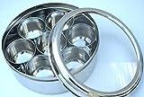 Multi-Storage -Masala Dabba with See thru Glass Lid