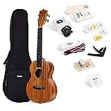Best Tenor Ukuleles - ENYA Tenor ukulele EUT-70 with String, Tuner, Strap,Fingershaker,Gig Review