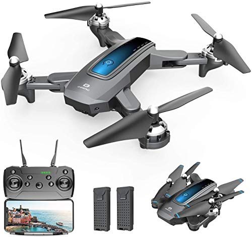 DEERC D10 Foldable Drone with Camera for Adults 720P HD FPV Live Video, Tap Fly, Gesture Control, Selfie, Altitude Hold…