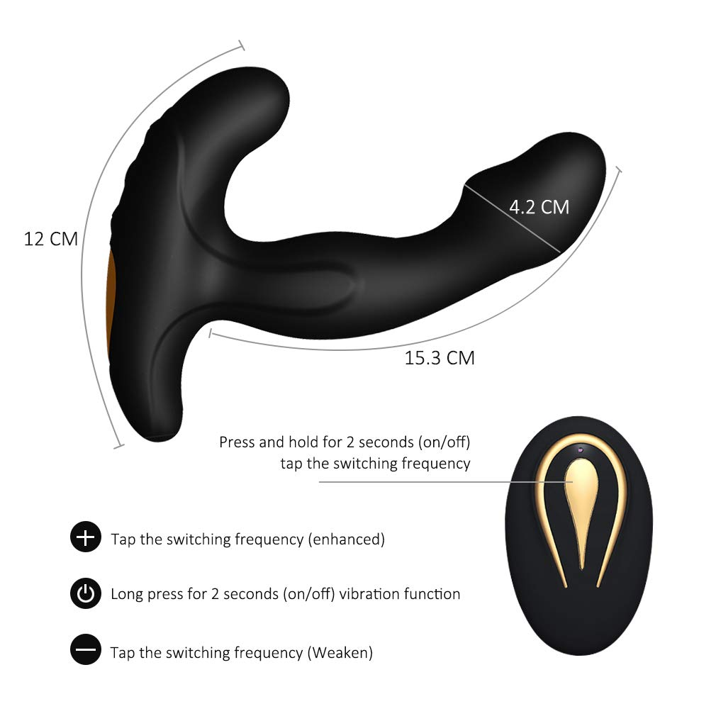 Masturabation Toys for Mens Vibrating Sexy Underwear for Men with Mulit Speeds Rotating +Mulit Speeds Vibrating - Wireless Remote Amal Butt Plug T-shirt