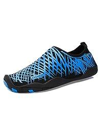 YIRUIYA Men Barefoot Quick-Dry Aqua Water Shoes