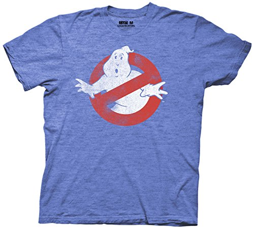 Ghostbusters Logo Mens T-shirt (X-Large, Heather Royal)