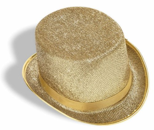 Gold Showgirl Costume (Forum Novelties Men's Adult Glitter Mesh Costume Hat, Gold, One Size)