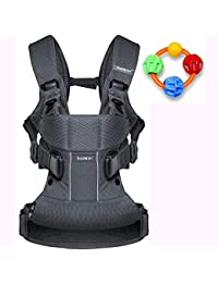 Baby Bjorn Baby Carrier One Air - Anthracite with Click Clack Balls Teether BOBEBE Online Baby Store From New York to Miami and Los Angeles