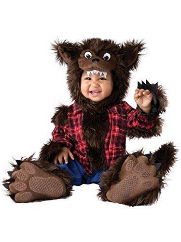 Werewolf Costume Ears (InCharacter Unisex Baby Wee Werewolf Costume - X-Small - Multi)