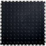 JCH International 90121BLK Heavy Duty Sports Lock Tile, Black, 19.5'' x 19.5''