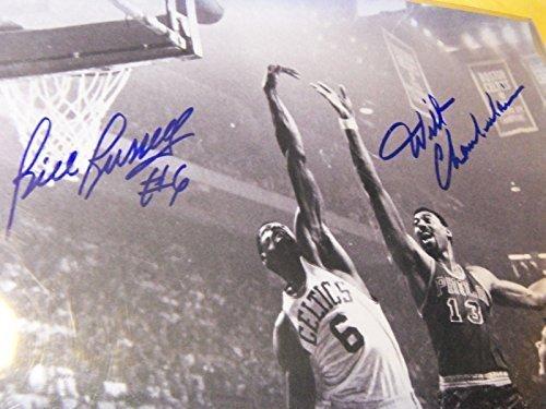 WILT CHAMBERLAIN/BILL RUSSELL Signed 16x20 Basketball Photo -Guaranteed Authentic