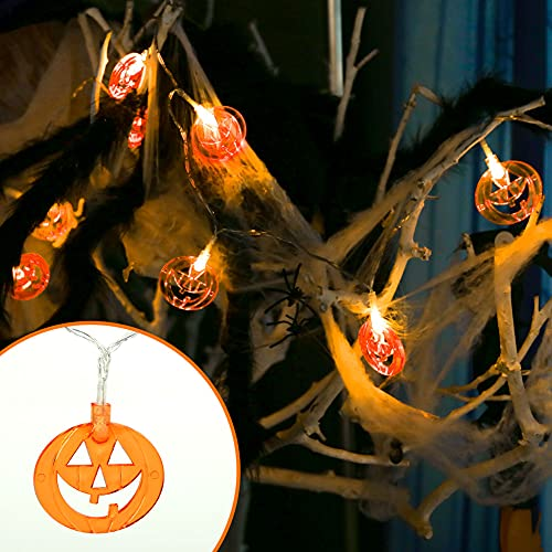 HiPatio Halloween Lights,Set of 4 Total 40 LED 19.6 FT Halloween Decoration Lights Battery Operated String Lights for Halloween Decorations Outdoor Indoor Home Yard Party