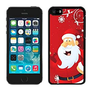 linJUN FENGBest Buy Iphone 5C TPU Case Santa Claus Black iPhone 5C Case 13