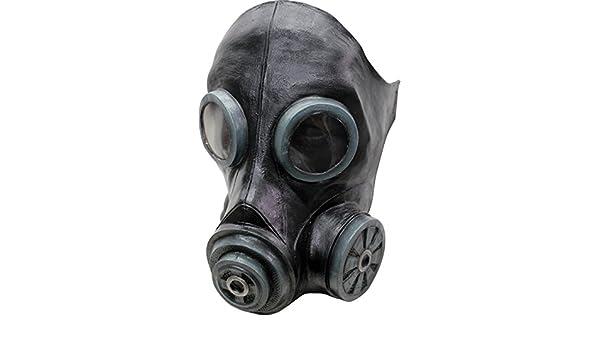 Máscara Smoke Anti-Gas negra para Halloween: Amazon.es: Juguetes y juegos