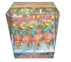 """Fish Kabob Jelly Candy 2.5 Ounce """"Fish Kabobs""""-(pack of 24)"""