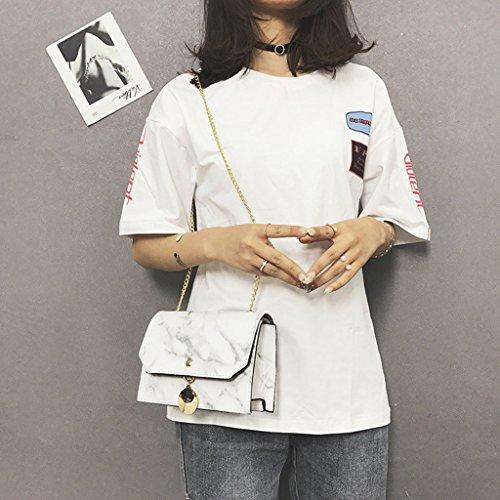 para mujer al Negro Zohong hombro Negro Blanco Bolso Fw8tqB