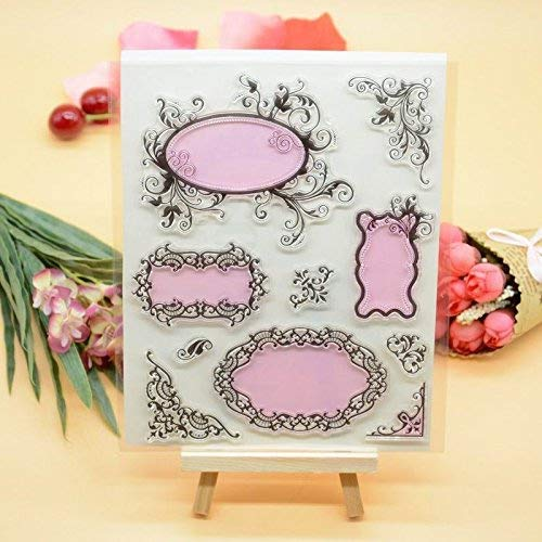 Joyful Home 1pc Frame DIY Rubber Clear Stamp for Card Making Decoration and Scrapbooking