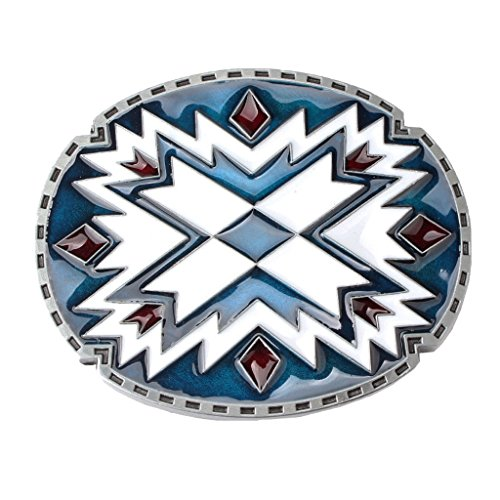 Cross Metal Belt Buckle - Homyl Floral Pattern Cowboy Indian Cross Metal Belt Buckle Indian Native American For Women Men For Jeans