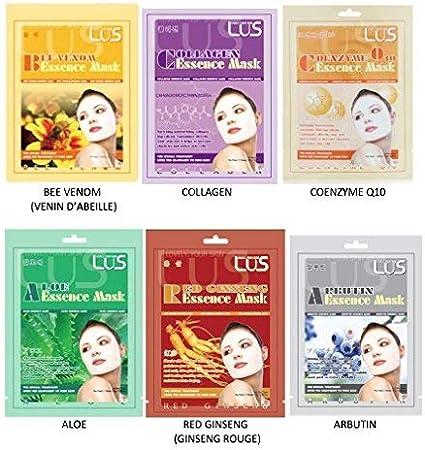 Pack de máscaras tela para el cuidado facial para todo tipo de piel – cosméticos, etnia coreana (Pack # 3 de 6 máscaras): Amazon.es: Belleza