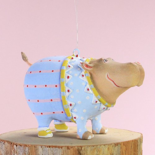 Hippopotamus Christmas Ornament