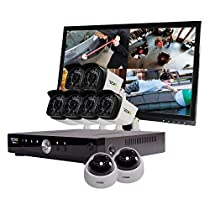 REVO America Aero HD 1080p 8 Ch. Video Security System with 8 Indoor/Outdoor Cameras, White/Black (RA81D2GB6GM22-2T)