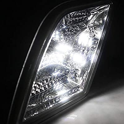 GTINTHEBOX Smoked Lens LED Front Side Marker Lamps with Pure White LED Lights for 2008-2011 Mercedes Benz W204 C250 C300 C350 & 2008-2013 C63 AMG,Replace OEM Sidemarker Lamps: Automotive