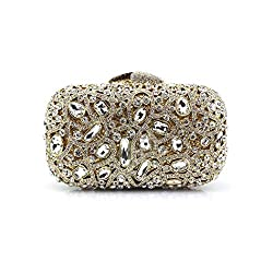 Diamond Studded Metal Clutch