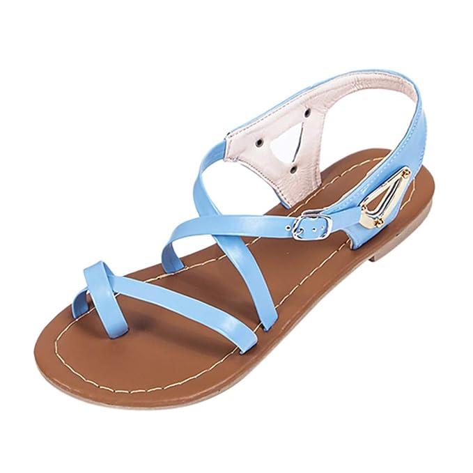 a0d234aca9e ABsolute Sandalias Sandalias Romanas Mujer Planas Planas de Verano de Gran  tamaño para Mujer Sandalias de Playa de Mujer Zapatos Mujer Verano 2019  Sandalias ...