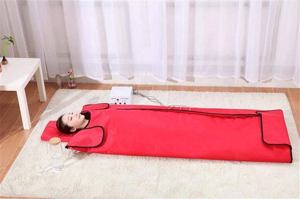 サウナ毛布 遠赤外線サウナセラピーブランケットは、カーン解毒美容マッサージマットレススチーム、マイナスボディ余分な脂肪は、物理的な疲労を和らげます (Color : 赤) 赤