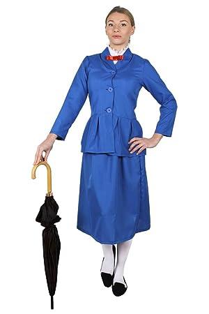 ADULTS MAGICAL NANNY CHARACTER WOMENS FANCY DRESS COSTUME TV FILM BOOK VICTORIAN