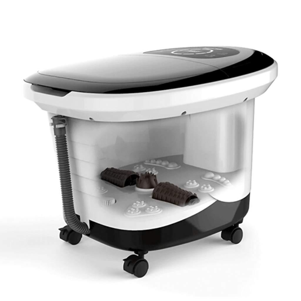 フットバスマッサージャー、フットスパーマシンフィート浸漬浴槽特徴振動、温泉付きスパローラーマッサージモード B07T2H1Q3Y