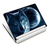 "iColor Laptop Skin Sticker Soft Vinyl Sticker Decal Cover for 12"" 13"" 13.3"" 14"" 15"" 15.4"" 15.6"" Sony HP Asus Acer Toshiba Dell Notebook Wolf"