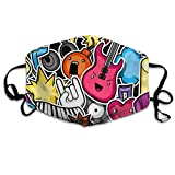 Unisex Music Party Kawaii Pattern Printed Cotton Mouth-Masks Face Mask Polyester Anti-dust Masks