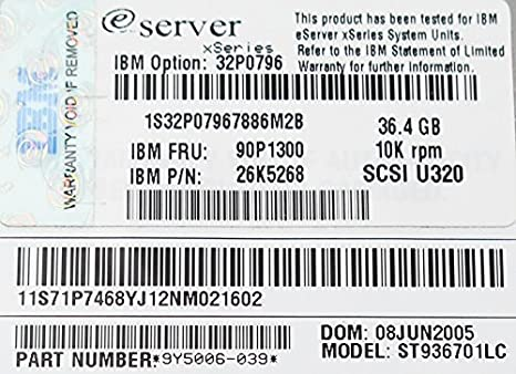 IBM E Server X Series  ST936701LC 36.4 GB  Hard Drive